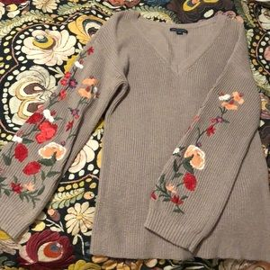 NWOT purple American Eagle Crocheted Sweater